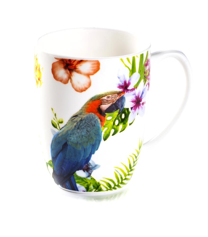 Mug Linea Pappagalli In Pocellana