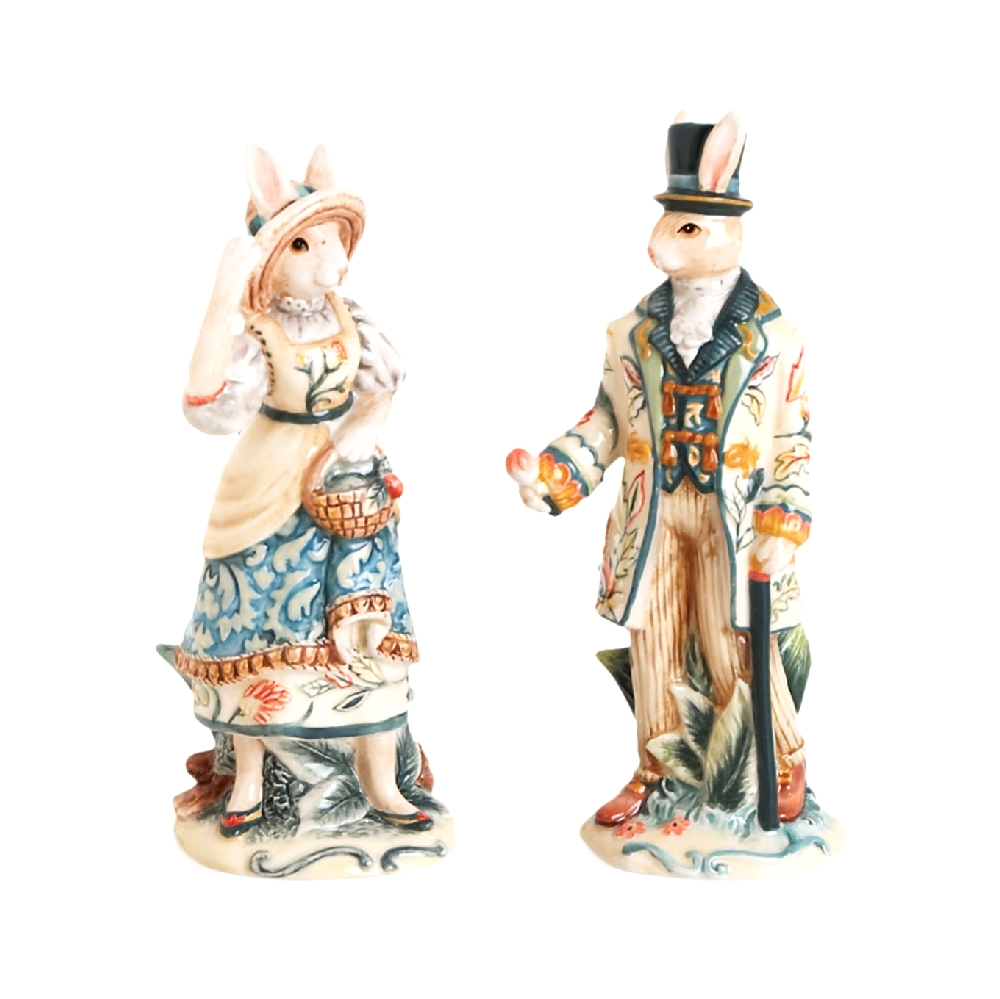 Sale E Pepe Mr E Mrs Coniglio In Porcellana