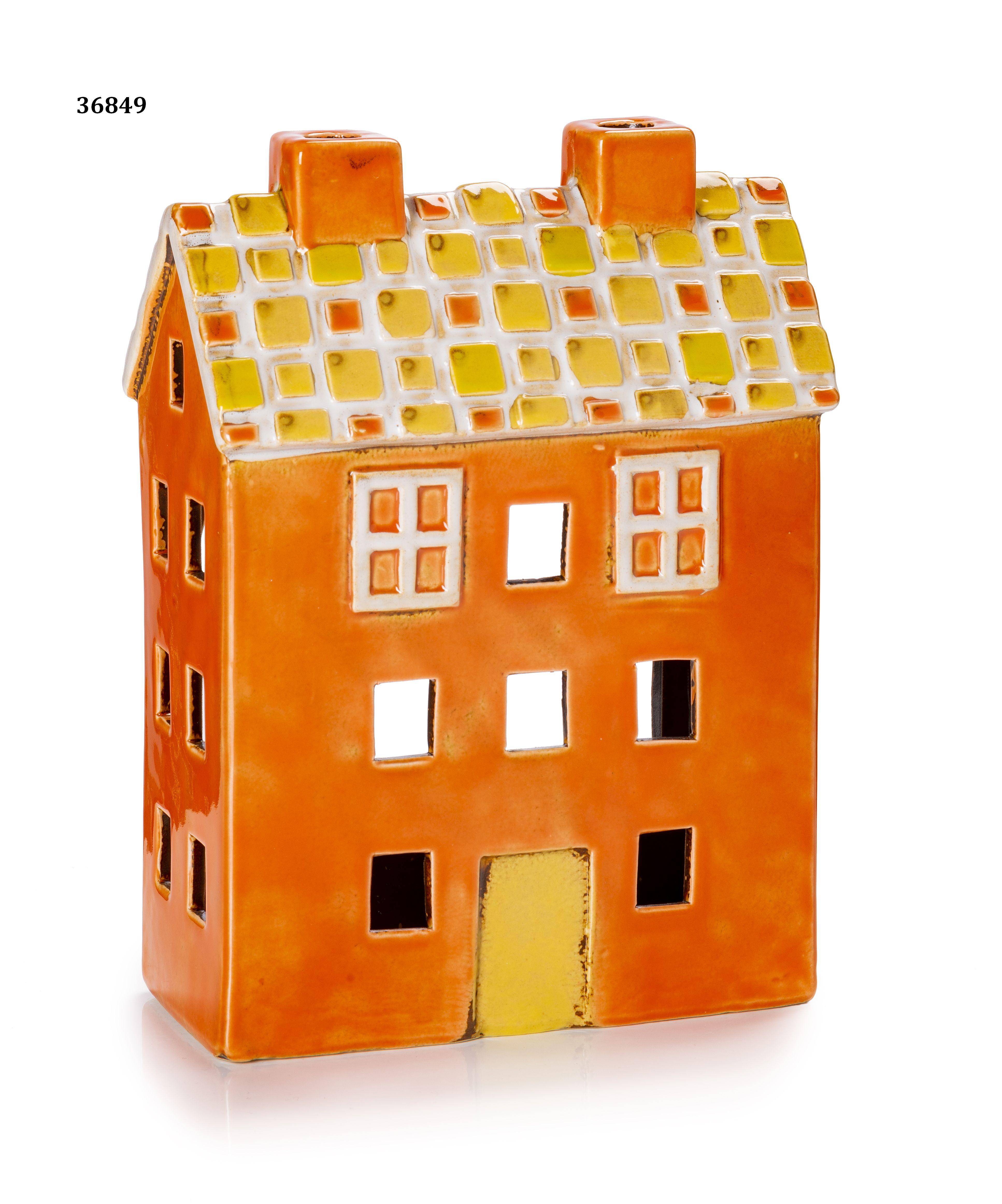 Casetta Porta Zampirone Arancione Tetto Giallo