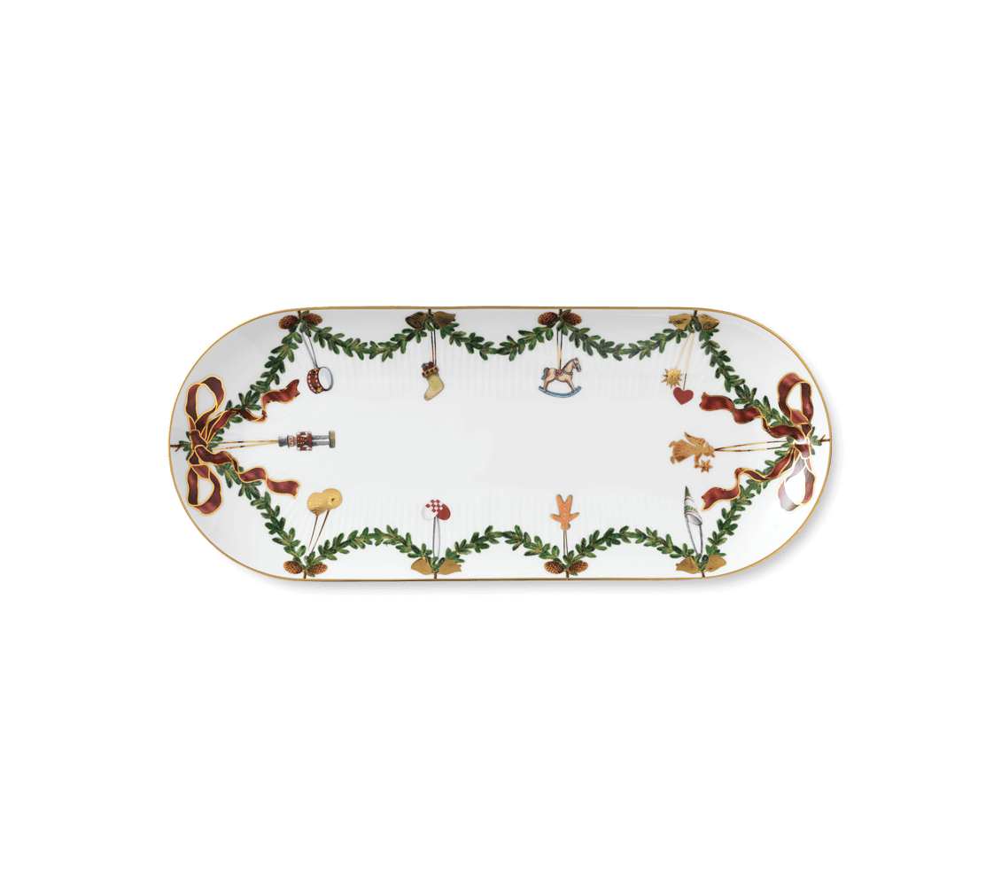 Piatto Da Portata Ovale Cm39 Star Fluted Christmas By Royal Copenhagen