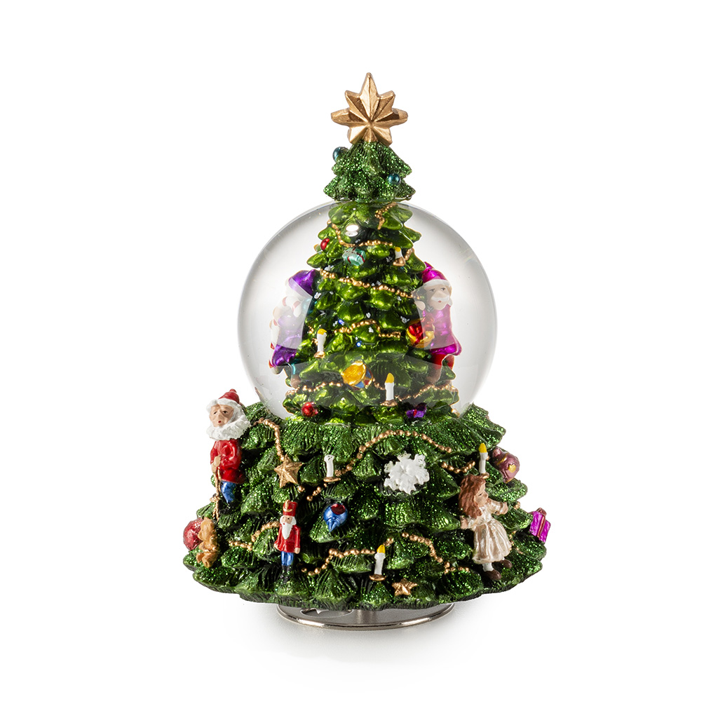 Carillon Albero Di Natale Dipinto A Mano H Cm19