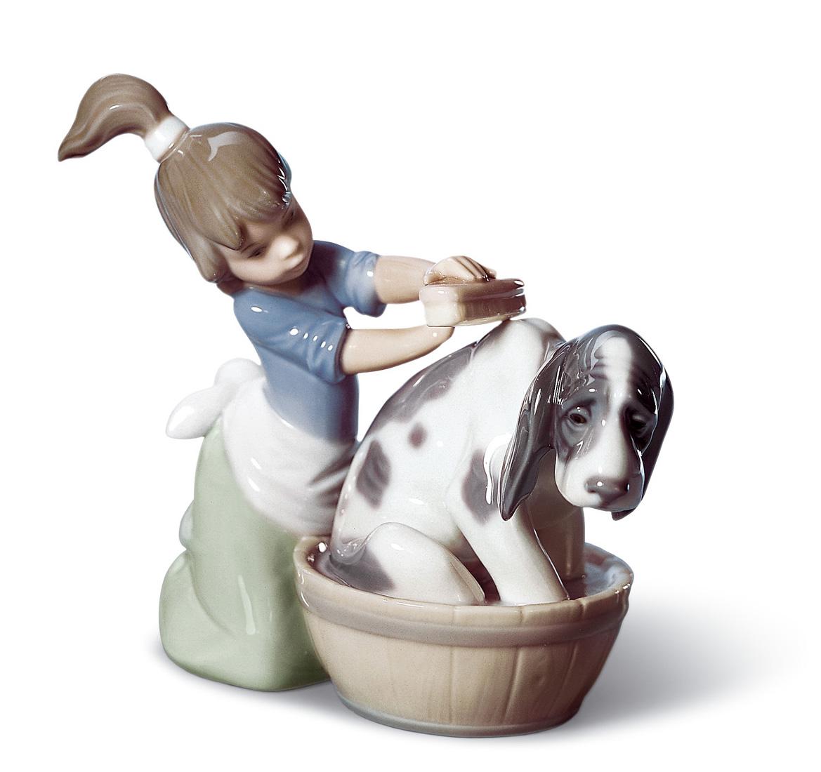 il bagno del cane