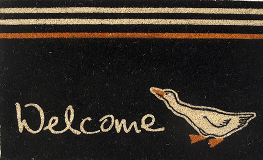 Zerbino Oca Welcome Nero 45X75
