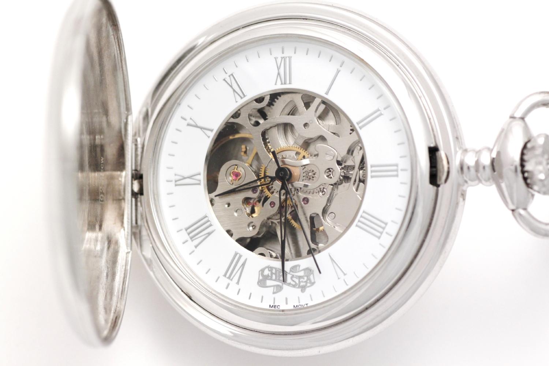Orologio Tasca Chiuso Argento D5