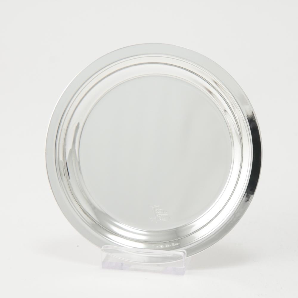 Sottobicchiere/Sottobottiglia Bilaminato d'argento Trattato  Cm.10