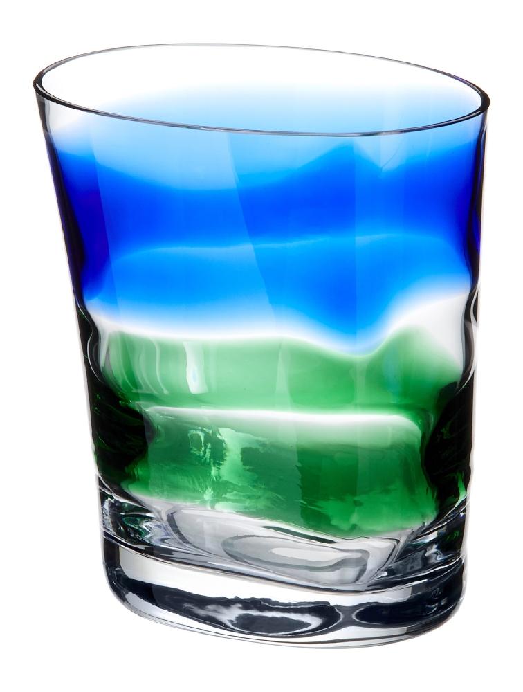 Bicchiere Acqua Bora righe larghe Verdi E Blu