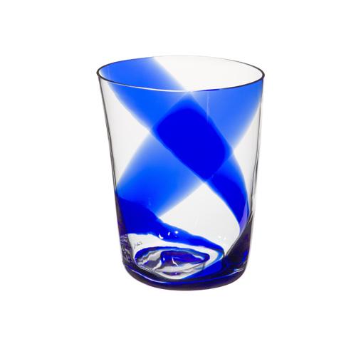 Bicchiere Acqua Serie Bora Righe Blu