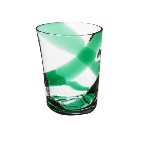 Bicchiere Acqua Bora fasce incrociate Verdi