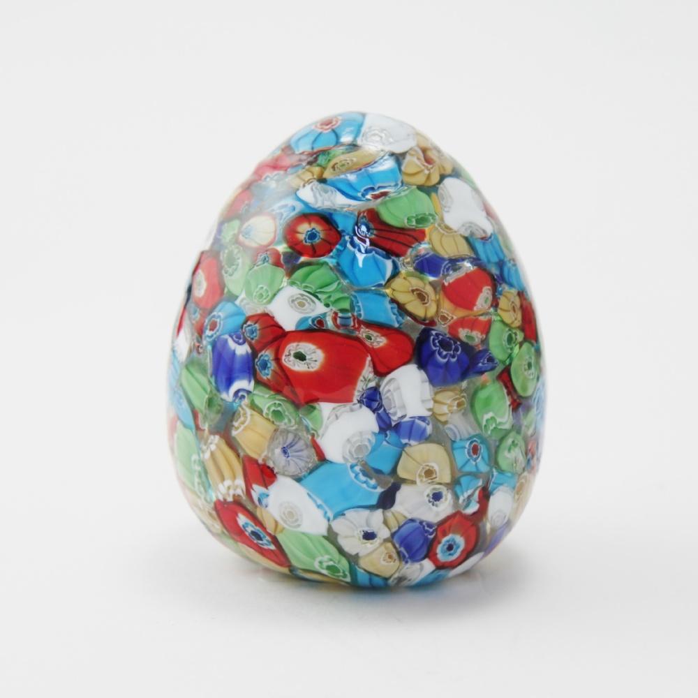 Uova vetro con murrine multilcolor cm10