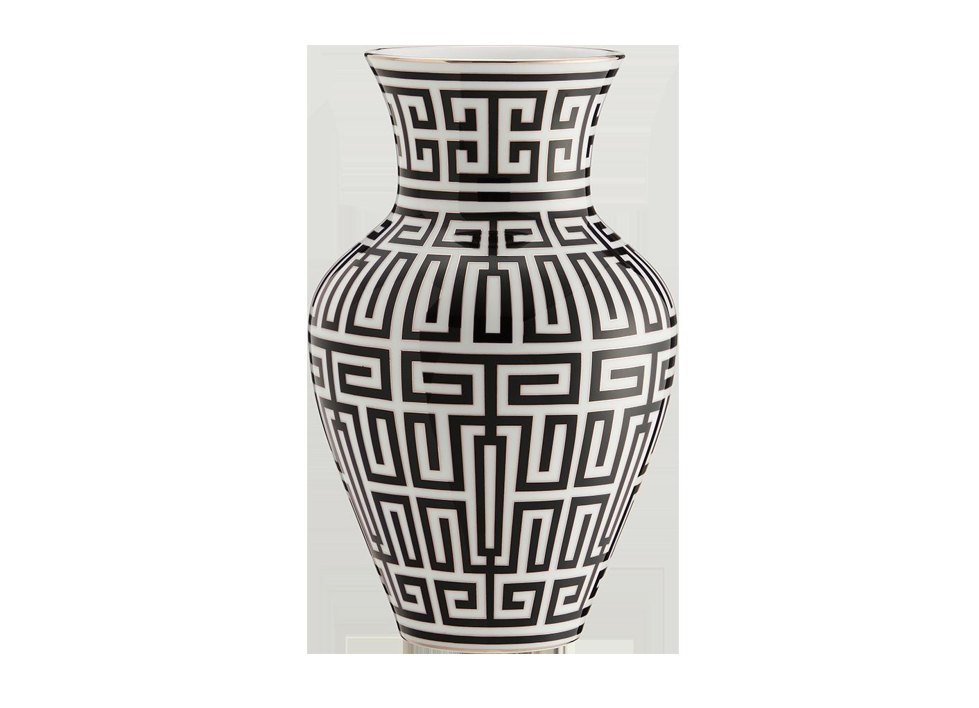 Vaso Labirinto Nero Ming Cm30